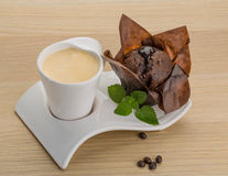 Coffee with muffin Royalty Free Stock Photography