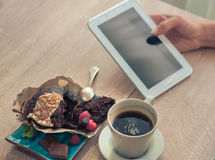 Coffee with a muffin for Breakfast Royalty Free Stock Photo