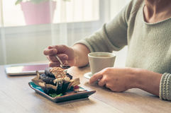 Coffee with a muffin for Breakfast Stock Image