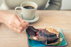 Coffee with a muffin for Breakfast Stock Images