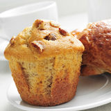 Coffee, muffin and croissant Royalty Free Stock Image