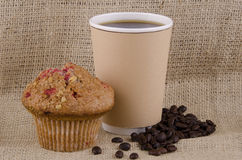 Coffee and muffin Royalty Free Stock Photography