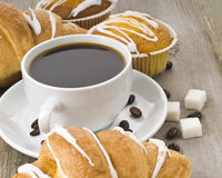 Coffee and muffin Stock Images