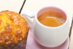 Coffee and muffin Royalty Free Stock Photos