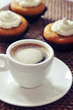 Coffee with muffins Royalty Free Stock Photo