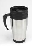 Coffee mug. Stainless Steel Silver Coffee Mug royalty free stock image