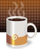 Coffee mug. Mug filled with hot coffee royalty free illustration