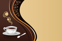 Coffee mug background Stock Photography