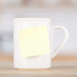 Coffee Mug With Blank Tag Royalty Free Stock Images