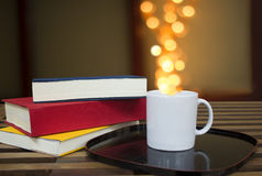 Coffee mug bokeh Stock Image