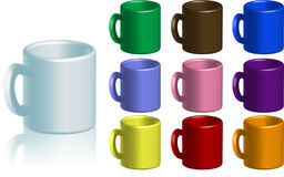 Coffee Mug Collection Royalty Free Stock Photo