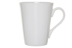 Coffee mug cut out with clipping path Royalty Free Stock Photos