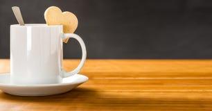 Coffee mug on a dark background Stock Image