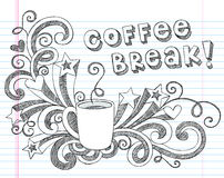 Coffee Mug Doodles Vector Illustration royalty free illustration