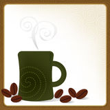 Coffee Mug Frame. Whimsical Coffee Mug Frame; Swirly and stylized with coffee beans. Easy-edit layered file Royalty Free Stock Photography