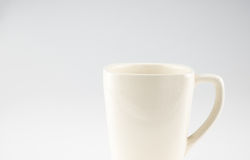 Coffee mug on grey background,Leave space for adding text Royalty Free Stock Photo