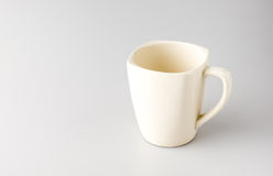 Coffee mug on grey background,Leave space for adding text Royalty Free Stock Image