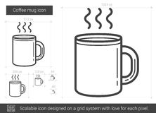 Coffee mug line icon. Royalty Free Stock Image