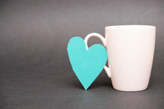 Coffee mug love Stock Images