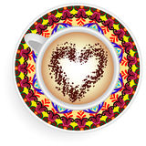 Coffee Mug mandala Stock Photo
