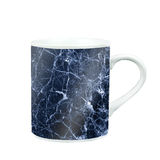 coffee mug with marble pattern texture. gift and souvenir with c Royalty Free Stock Image