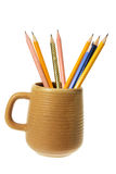 Coffee Mug with Pencils Stock Images