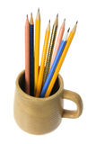 Coffee Mug with Pencils Royalty Free Stock Photo