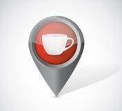 Coffee mug pointer illustration Stock Photos