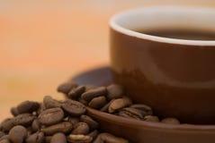 Coffee mug roasted beans Royalty Free Stock Photo