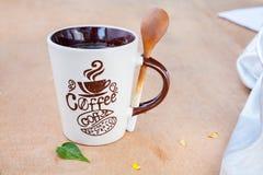 Coffee Mug with a spoon Stock Image