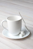 Coffee Mug Spoon Sugar Cubes Royalty Free Stock Photos