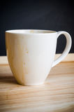 Coffee mug with stains Royalty Free Stock Image