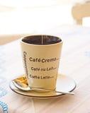 Coffee mug with text. Stock Photography