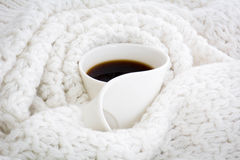 Coffee mug. Warm coffee mug Royalty Free Stock Photo