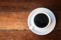 Coffee Mug on Wooden Table. stock photography