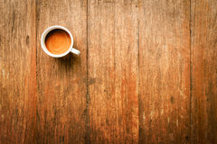 Coffee Mug on Wooden Table Royalty Free Stock Images