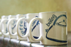 Coffee Mugs Stock Photography