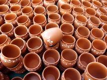 Coffee Mugs. Indian designer coffee mugs made of clay royalty free stock photos