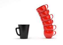 Coffee Mugs. Isolated on white background vector illustration