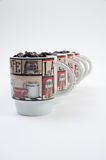 Coffee Mugs with Beans Royalty Free Stock Image