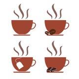Coffee Mugs Illustration. 4 variants of coffee mugs Stock Image