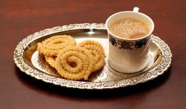 Coffee and muruku Stock Images