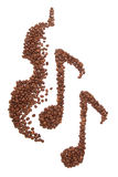 Coffee music Stock Image