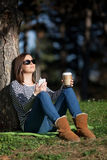 Coffee and music Royalty Free Stock Photo