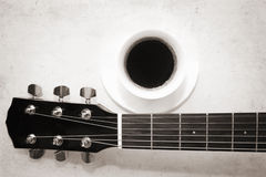 Coffee and music Stock Photo