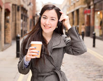 Coffee and music Royalty Free Stock Photography