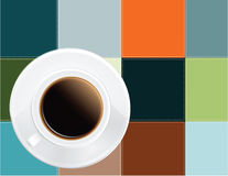 Coffee on a napkin Royalty Free Stock Photos