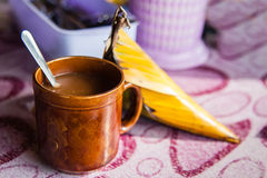 Coffee and Nasi Dagang Stock Images