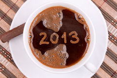 Coffee new year 2013 Royalty Free Stock Images