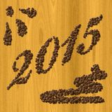 Coffee New Year 2015 generated texture background Royalty Free Stock Photos